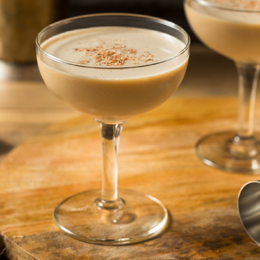 A rich and creamy cocktail consisting of cognac, crème de cacao, and cream, the Brandy Alexander is the brandy-based brother of the gin-based Alexander.