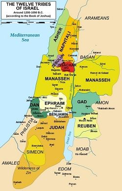 Map of Israel -tribes