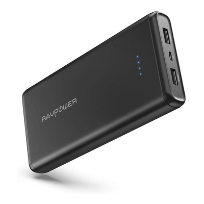 RAVPower 20000mAh dual port portable charger and power bank