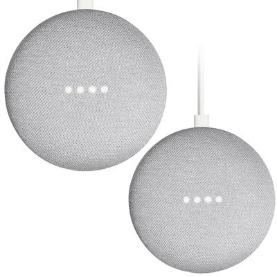 Google Home Mini 1st-generation smart speaker 2-pack