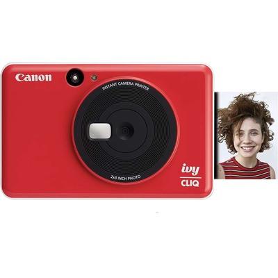 Canon Ivy Cliq instant camera printer red yellow blue