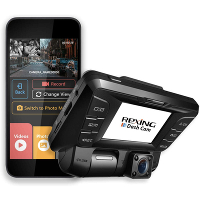 Rexing dash cams with front and rear cameras