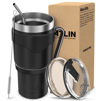 Take your coffee with you in Atlin's 30-ounce vacuum insulated tumbler on sale for $17