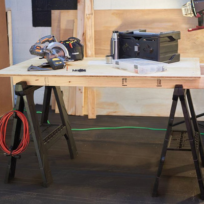 Prepare for DIY projects with two 28-inch Husky Folding Sawhorses at 50% off