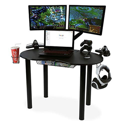 The Atlantic Gaming Eclipse desk is on sale for $97 and has storage for all your accessories
