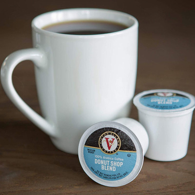 Keep yourself caffeinated with 80 Victor Allen Donut Shop K-Cups for only $0.19 apiece