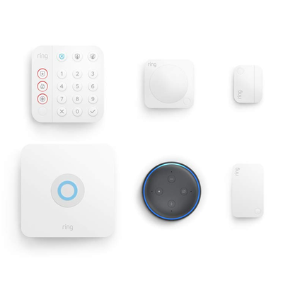 Ring Alarm Home Security Kit with free Amazon Echo Dot