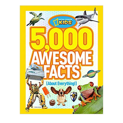 Educate your kiddos with a discount on this National Geographic Kids 5,000 Awesome Facts about Everything book