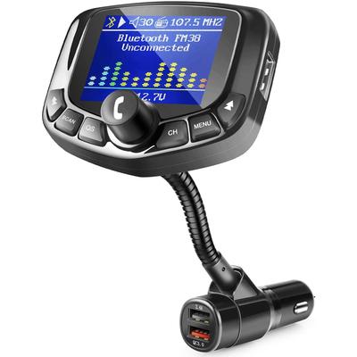 Zeeporte Quick Charge 3.0 3-port Bluetooth FM transmitter for car