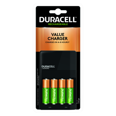 Duracell Ion Speed Rechargeable Battery Charger Value Kit