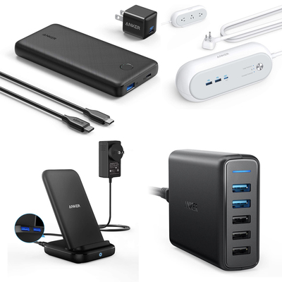 Anker wall chargers, USB-C cables, wireless charging pads, and more