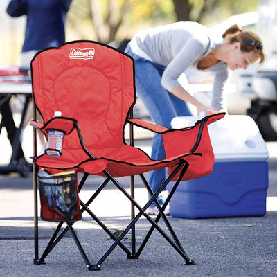 Sit down and stay there thanks to the cooler on this $20 Coleman over-sized chair
