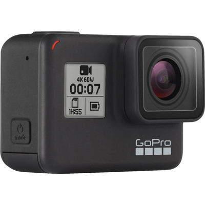 GoPro Hero 7 Black action camera with $50 gift card and accessories
