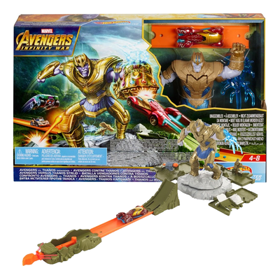 Bring an end to Thanos' evil plans with the Hot Wheels Marvel Avengers Showdown set on sale for just $9