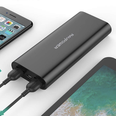RAVPower 16750mAh portable power bank and battery charger