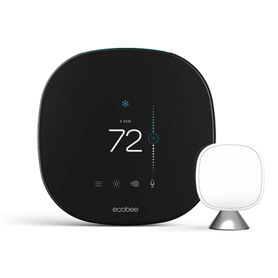 Ecobee Smart Thermostat with voice control and room sensor