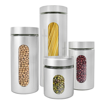Add some flair to your kitchen with Estilo's 4-piece Glass Canister set at a new low price of $16