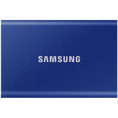Samsung T7 1Tb portable solid state drive blue