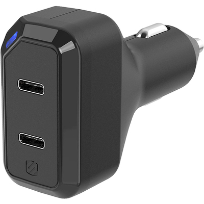 Scosche Powervolt 36W dual-port USB-C car charger
