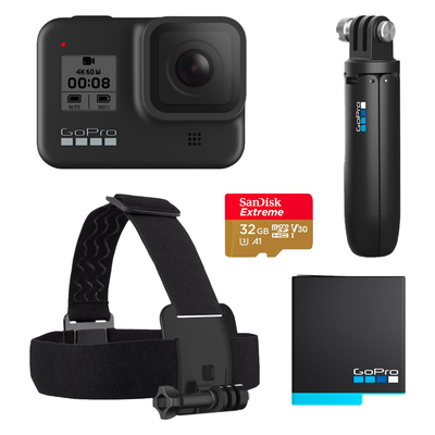 GoPro HERO8 Black Live Streaming Action Camera Holiday Bundle