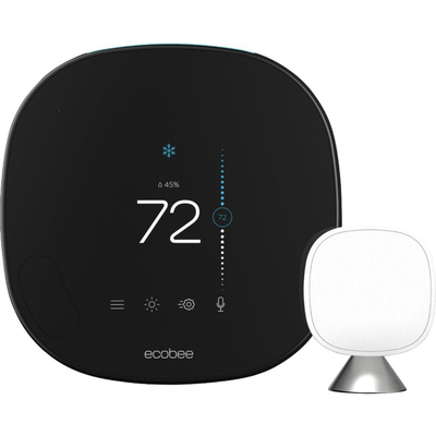 Ecobee Smart Thermostat with voice control black