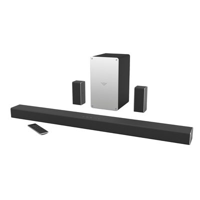 Stream music wirelessly or connect your TV to Vizio's 5.1 SmartCast Sound Bar System for $130 today only