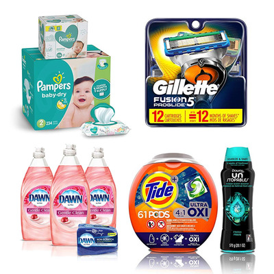 Stock up on razors, laundry detergent, diapers, and so much more at up to 40% off today