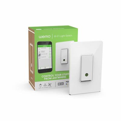 Add smarts to your home lighting with a refurbished Wemo Wi-Fi Light Switch and save 50%