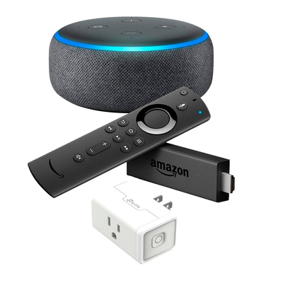 Fire TV Stick + Echo Dot + TP-Link Smart Plug