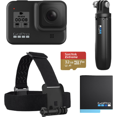 GoPro Hero 8 Black live streaming action camera bundle