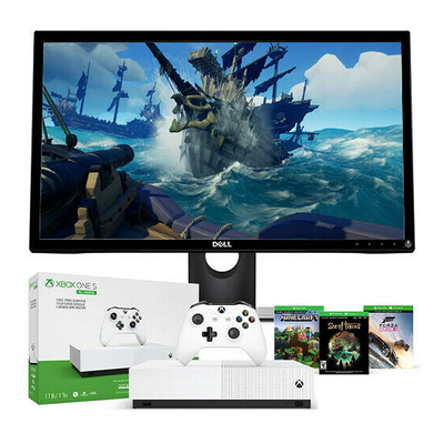 This Xbox One S All-Digital Edition bundle comes with a free 23.6-inch Dell LCD monitor
