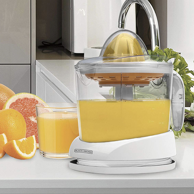 Squeeze every drop of juice with the Black+Decker citrus juicer discounted to less than $14