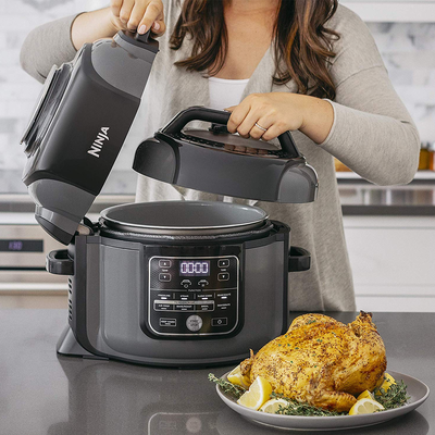 Ninja's Foodi Deluxe multi-cooker on sale at $80 off can do one thing the Instant Pot can't