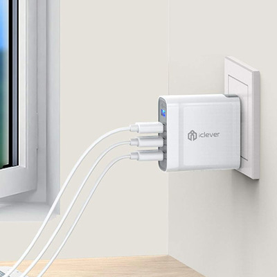 Turn one outlet into four with this discounted iClever USB Wall Charger