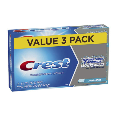 Crest 3-Pack Baking Soda and Peroxide Whitening Toothpaste