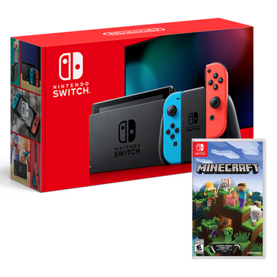 All-New Nintendo Switch console bundle with Minecraft