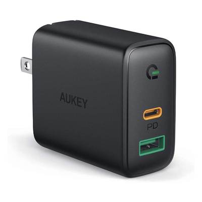 Aukey 30W USB-C Power Delivery 2-port wall charger