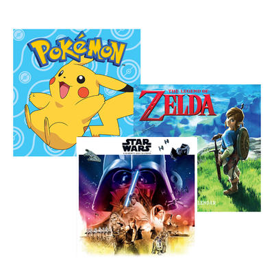 2020 Wall Calendars: Pokémon, Star Wars, Stranger Things, and more