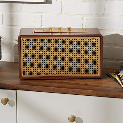 Grab the AmazonBasics Retro Bluetooth speaker while it's on sale for $85