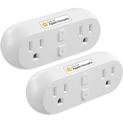 Meross dual outlet smart plug 2-pack