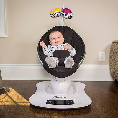 Lull your baby to sleep with this discounted 4moms MamaRoo Bluetooth Swing