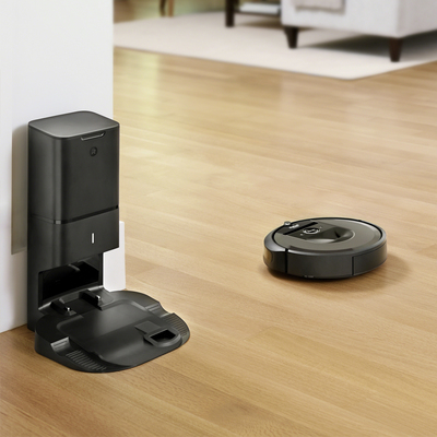The new iRobot Roomba i7+ empties its own dust bin and is currently $150 off