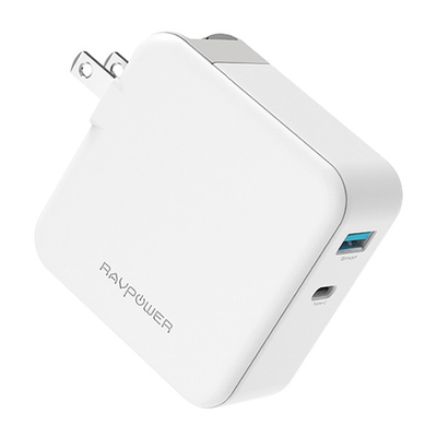 RAVPower Pioneer 45W Power Delivery 3.0 & Quick Charge USB-C Wall Charger