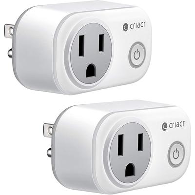 Cricar Wi-Fi-enabled mini smart plug 2-pack