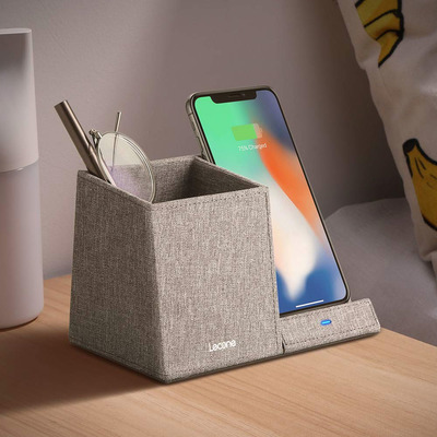 Lecone 10W Fast Wireless Charger & Desk Organizer