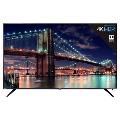 Save $400 and put TCL's largest 4K HDR Roku TV right in the middle of your living room