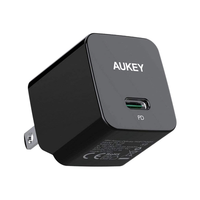 Aukey Minima 18W USB-C fast charger with foldable plug