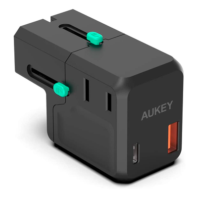 Aukey Universal QC&PD3.0 Travel Plug Adapter