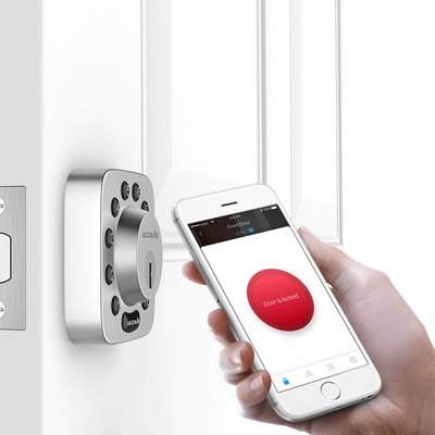 This Ultraloq U-Bolt Smart Deadbolt lets you unlock your door with your phone