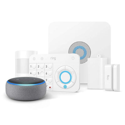 Ring Alarm 5-Piece Home Security System + Free Echo Dot